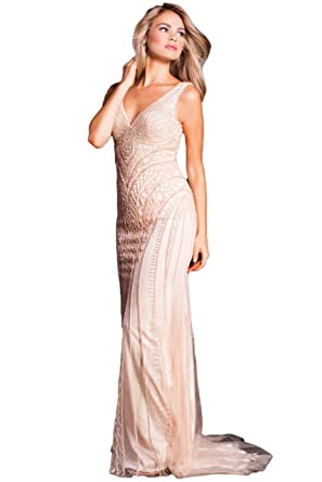 Jovani Prom 2018 Dress Evening Gown Authentic 54539 Long Peach
