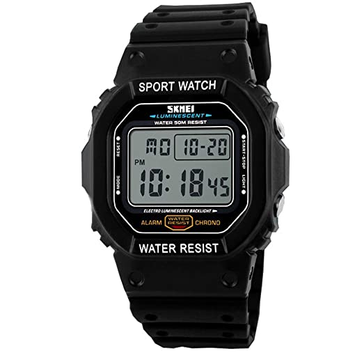 Skmei Watch Men Sport Water Resistant Ruuber Strap Watch Relogio Masculino Digital Led Watch For