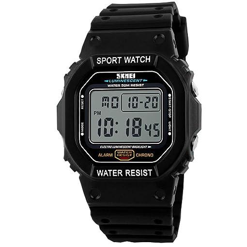 Skmei Watch Men Sport Water Resistant Ruuber Strap Watch Relogio Masculino Digital Led Watch For
