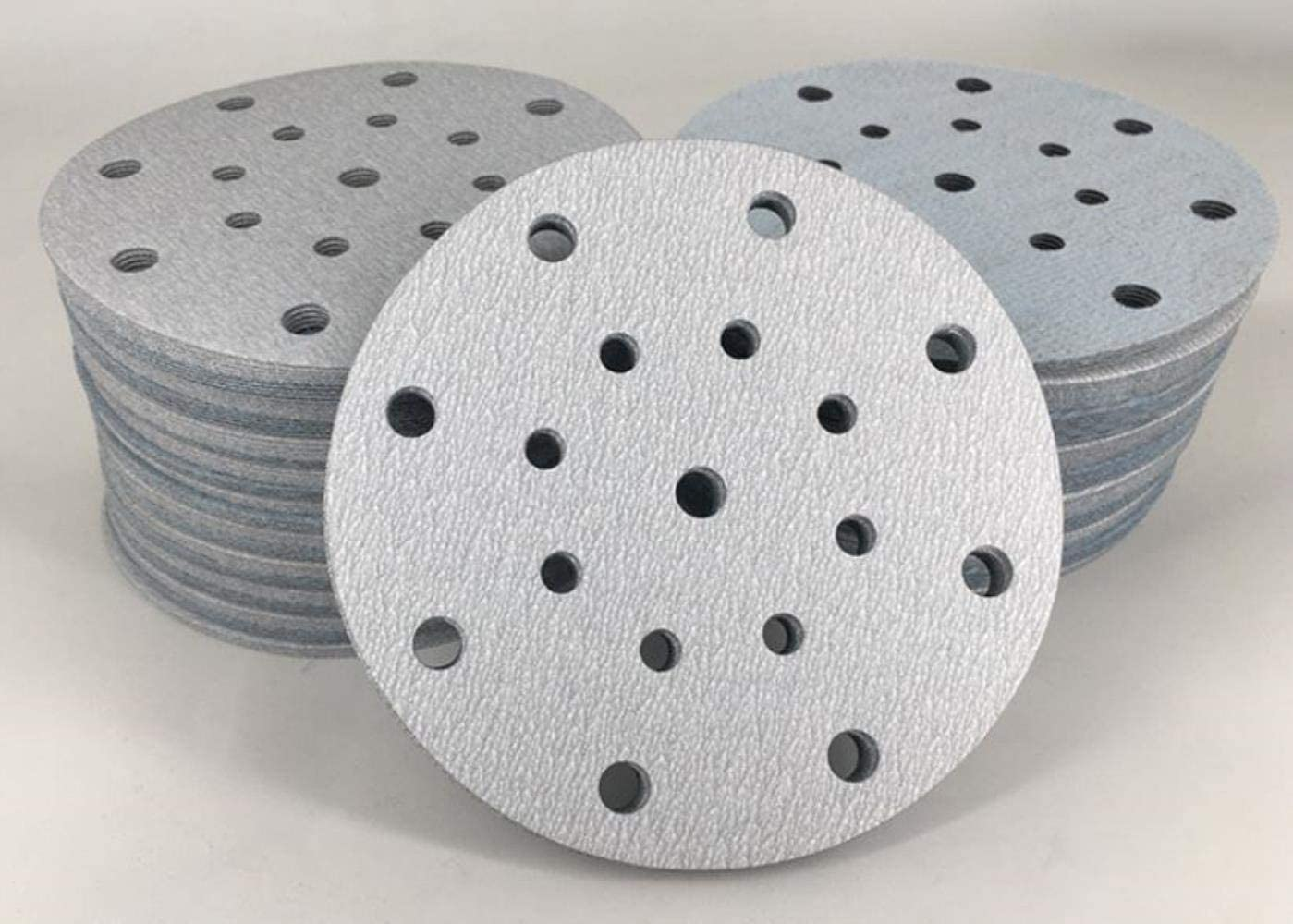 100pcs 6 Inch 17 Holes 150mm Round Sandpaper Disk Sand Sheets Grit 60-1000 Grinding Disc Polish Sand Sheets,80 1000