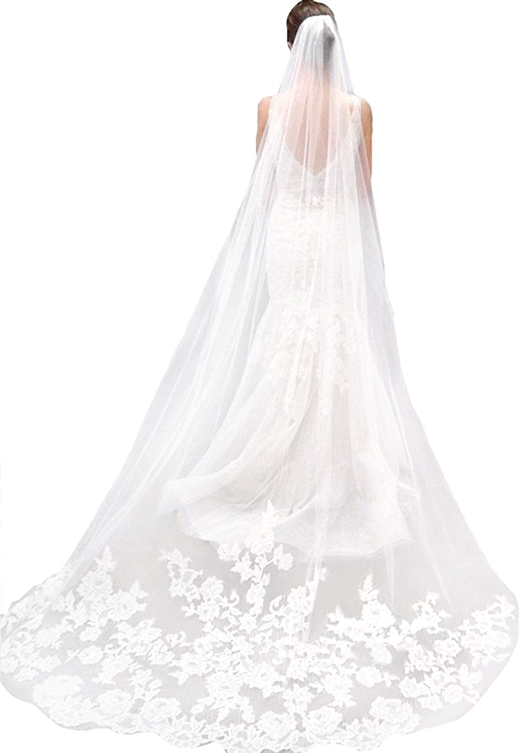 New Crystals Edge Veil Cathedral Length Fingertip Length Wedding Veil Wedding Veil Regal Length Veil Royal Length Wedding Veil