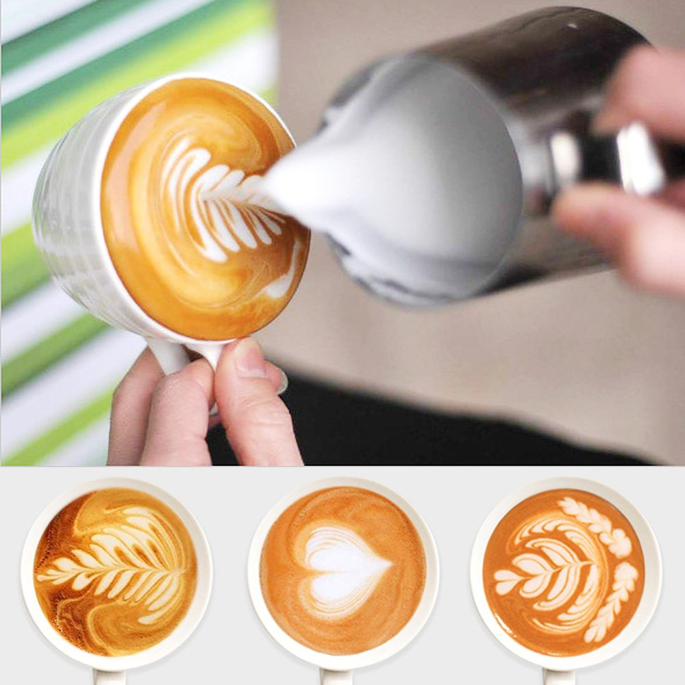 1000ml Stainless Steel Coffee Latte Milk Frothing Cup Pitcher Jug for Espresso Coffee Milk Frothers Latte Art