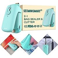 Mini Scelleur, Mini Scellant pour Sacs, Mini Bag Sealer, Scelleur Thermique, Mini Scelleur Portatif, 2 en 1 Thermoscelleuse et Coupeuse, Scelleur de Sac pour Plastique (Batterie non incluse)