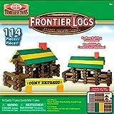 : Ideal Frontier Logs 114 Piece Classic Wood Construction Set