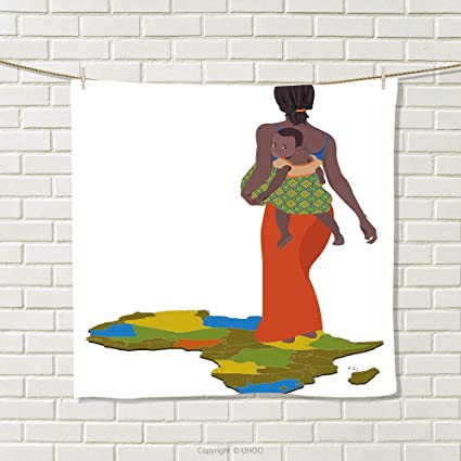 Amazon com: smallbeefly African Woman Hand Towel Mother