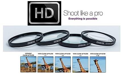 Amazon com : +1 +2 +4 +10 4-PC Close-Up Macro Lens for