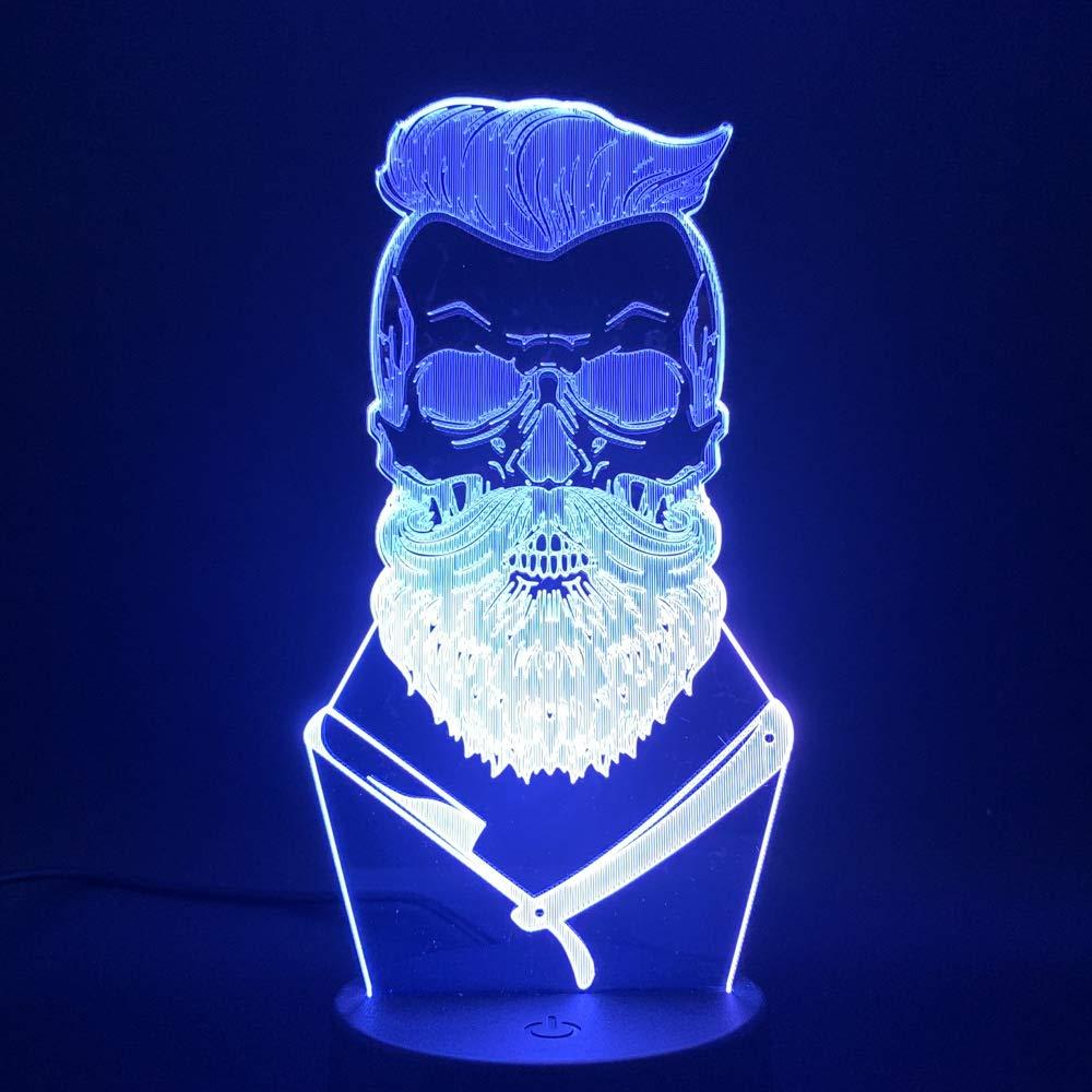 Lampara 3D-Cool Barbershop Decoración Mesa Led Luz Nocturna ...