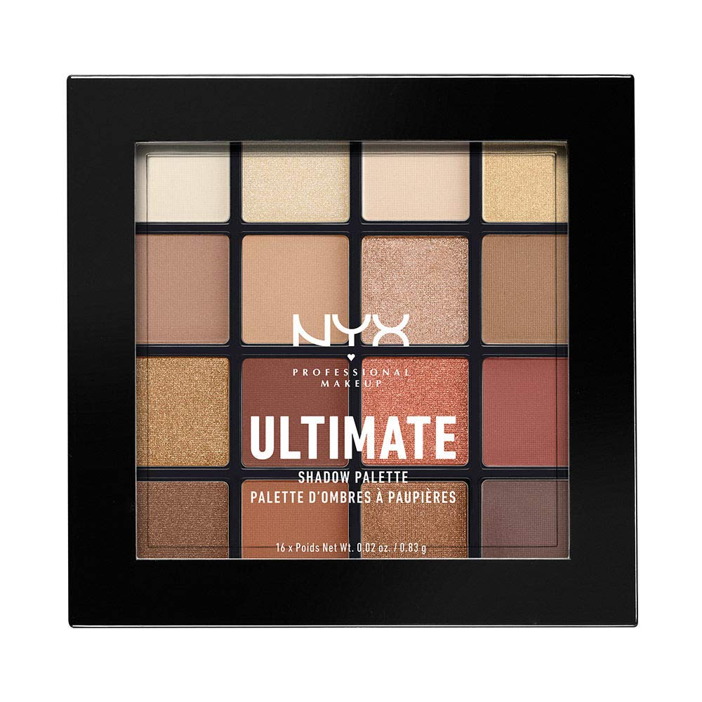 NYX PROFESSIONAL MAKEUP Ultimate Shadow Palette, Eyeshadow Palette, Warm Neutrals,1 Count by NYX PROFESSIONAL MAKEUP