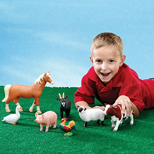 Learning Resources Jumbo Farm Animals, 7 Pieces