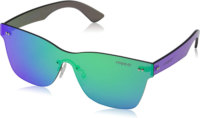 Foreyever Spica Gafas de sol, Verde (Verde Specchiato), 65 Unisex Adulto
