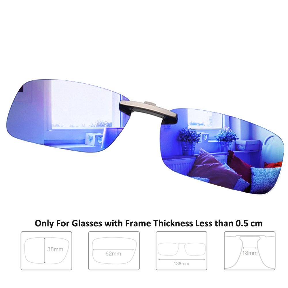 c1f6805fc93 Enem Day Vision Polarized Blue Mirror Finish Clip-on Metal Clip Driving  Sunglasses  Amazon.in  Car   Motorbike