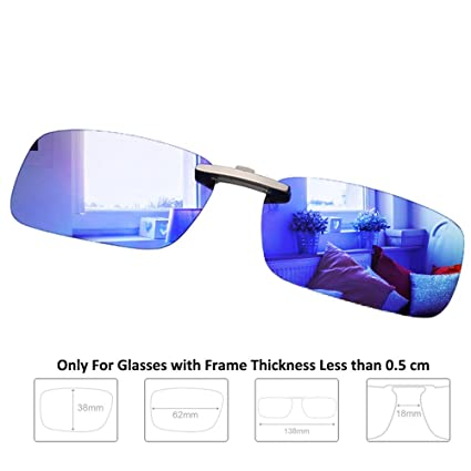 909063ab7fdec Enem Day Vision Polarized Blue Mirror Finish Clip-on Metal Clip Driving  Sunglasses