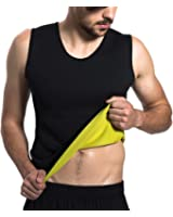 Roseate Men's Body Shaper Hot Sweat Workout Tank Top Slimming Neoprene Weight Loss Tummy Fat Burner