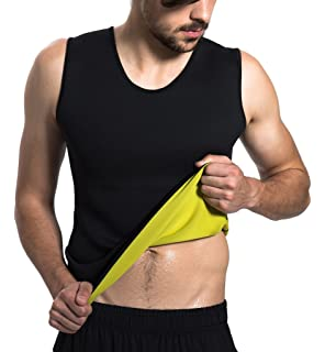7f1108b662 Roseate Men s Body Shaper Hot Sweat Workout Tank Top Slimming Neoprene Vest  for Weight Loss Tummy
