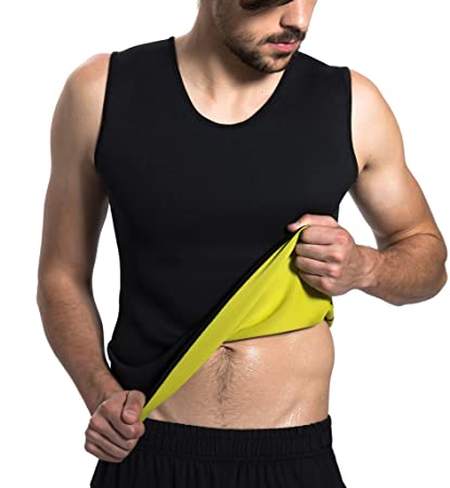 a57fb8516c884f Roseate Men s Body Shaper Hot Sweat Workout Tank Top Slimming Neoprene Vest  for Weight Loss Tummy