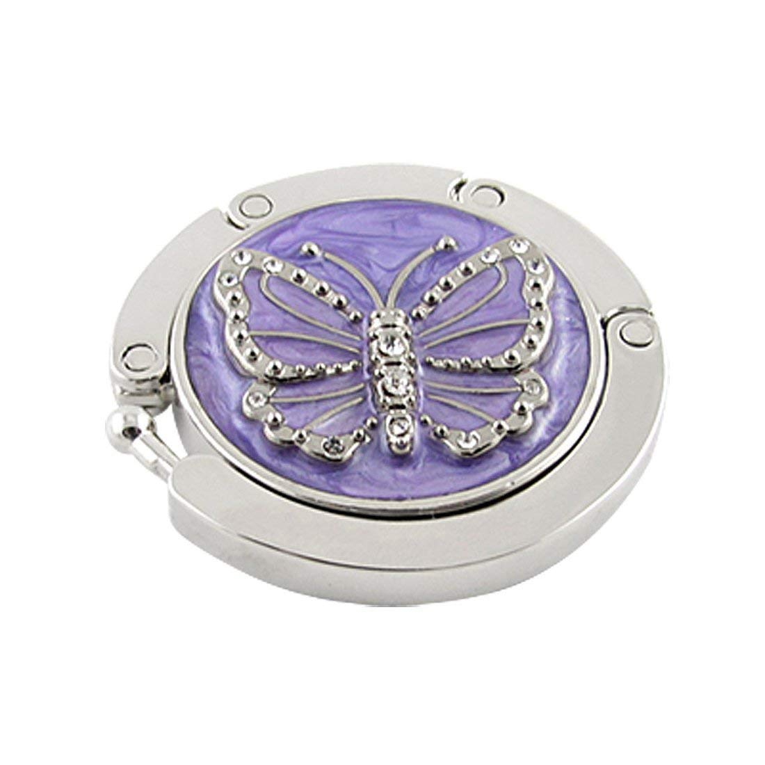 Premium Quality Portability Multifunction Purple Butterfly Purse Handbag Hook Folding Hanger by Yevison