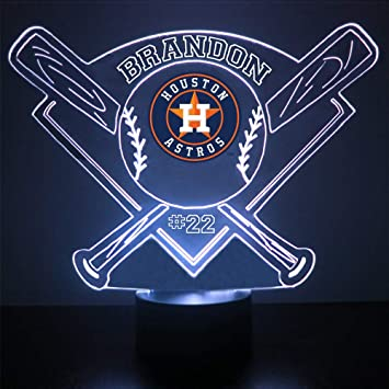 Amazon.com: Espejo Magic Store luz nocturna LED de béisbol ...