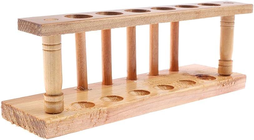 Blesiya Soporte de Madera de Almaenamiento de Tubo de Ensayo Fuente de Laboratorio Juguetes para Niños - 6 Agujeros: Amazon.es: Juguetes y juegos