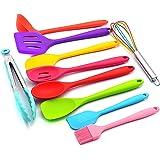Decdeal Utensílios de cozinha Conjunto 10 Pcs Colorido Silicone Antiaderente Utensílio de Cozinha Em Todo O Conjunto de Utens