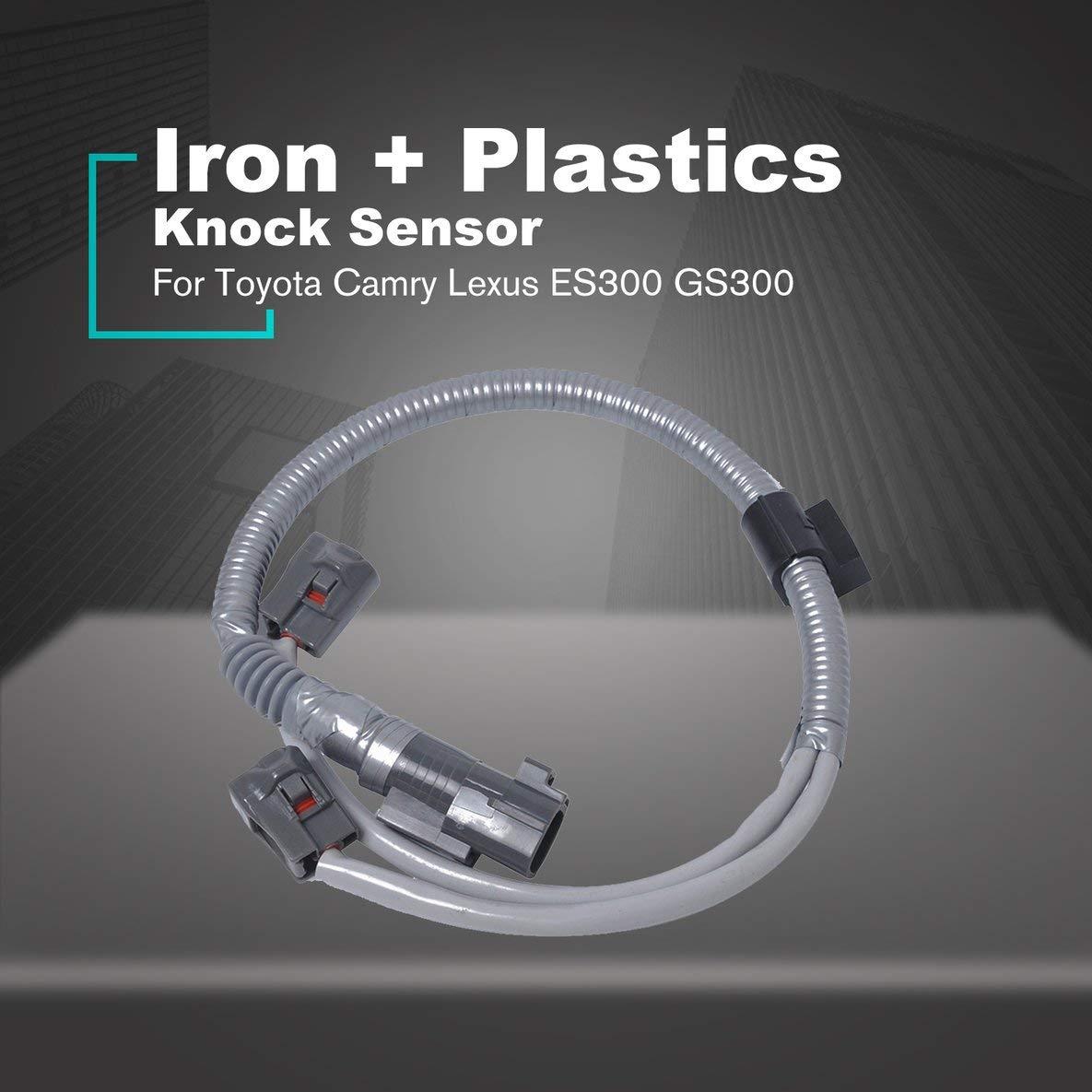 Noradtjcca 2Pcs Auto Car Knock Sensors Harness Kit For Toyota Camry Lexus ES300 GS300 Vehicle Repair Accessories Kit