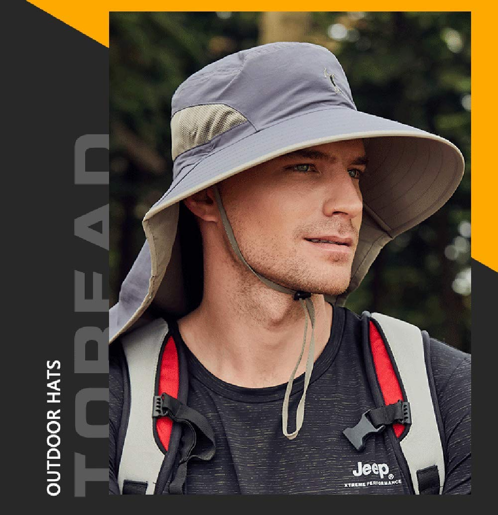 360℃ UV Protection Sun hat Folding Visor Fishing Neck Cover Flap Cap Hiking