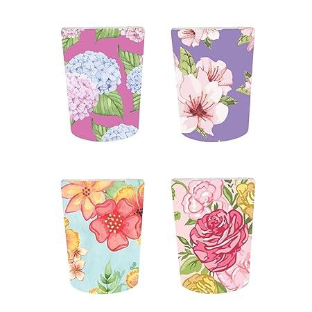 YaYa Cafe™ Floral Flower Captivating Decorative Pots Planter Indoor (Only Pots) Set of 4