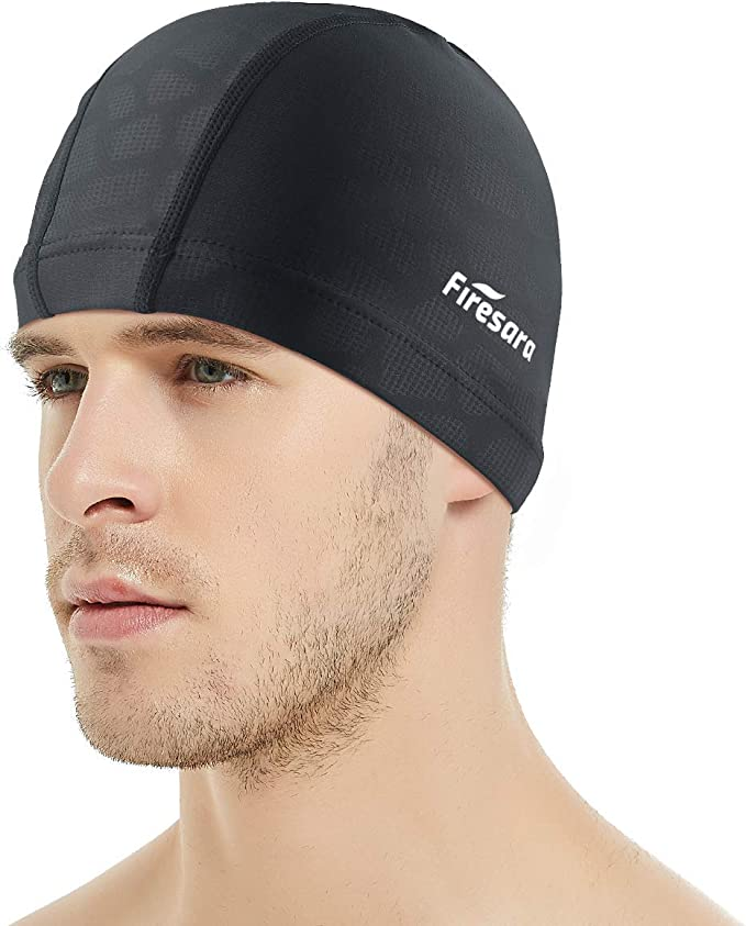 XREE Adult Sport Swim Cap Swimming Cap Super Resilient Breathable Suitable for Long or Short Hair