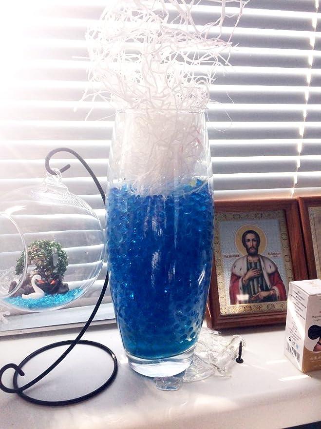 Blue Water Beads Vase Filler 25000 Beads Water Non Toxic Water Bead