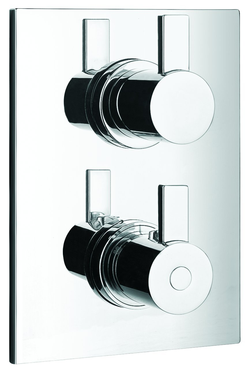 Artos F704-3CH Otella Thermostat With Three Way Diverter, Chrome