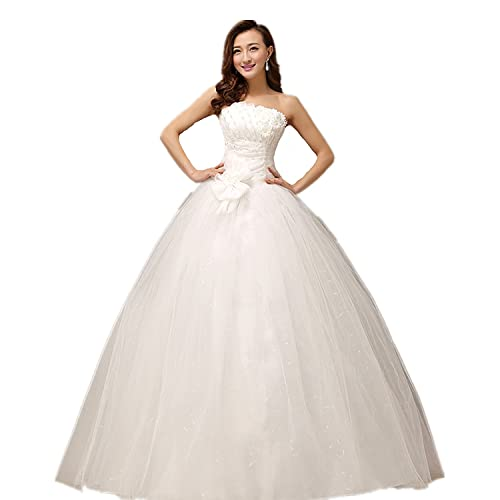 xf01 wedding bride dress with sequined flower big day