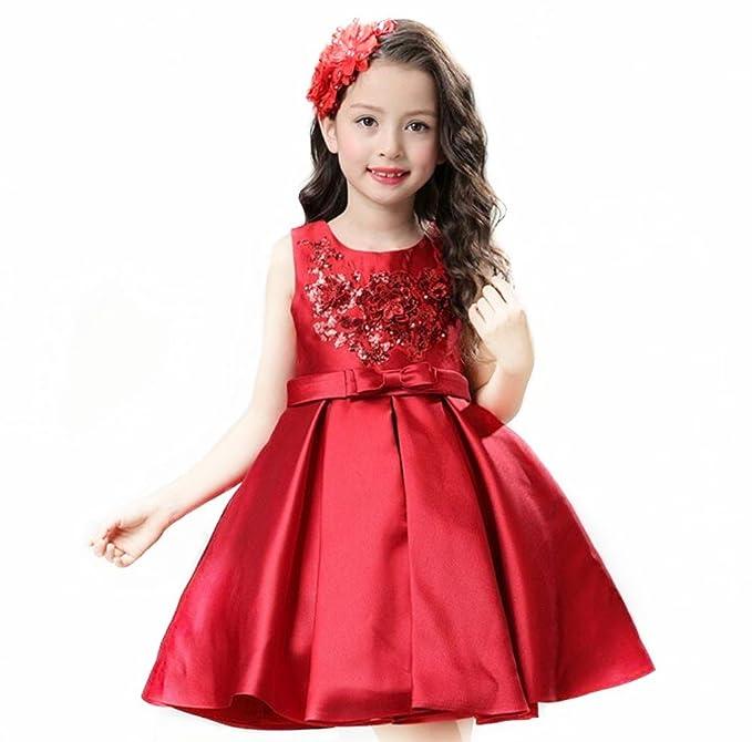 Firstmall Lujo Niña Princesa sin mangas de Encaje Vestido de bola Elegante Formal Vestidos de Fiesta: Amazon.es: Ropa y accesorios