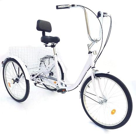 YIYIBY – Bicicleta de Ciudad, para Adultos, Triciclo, para Adultos ...