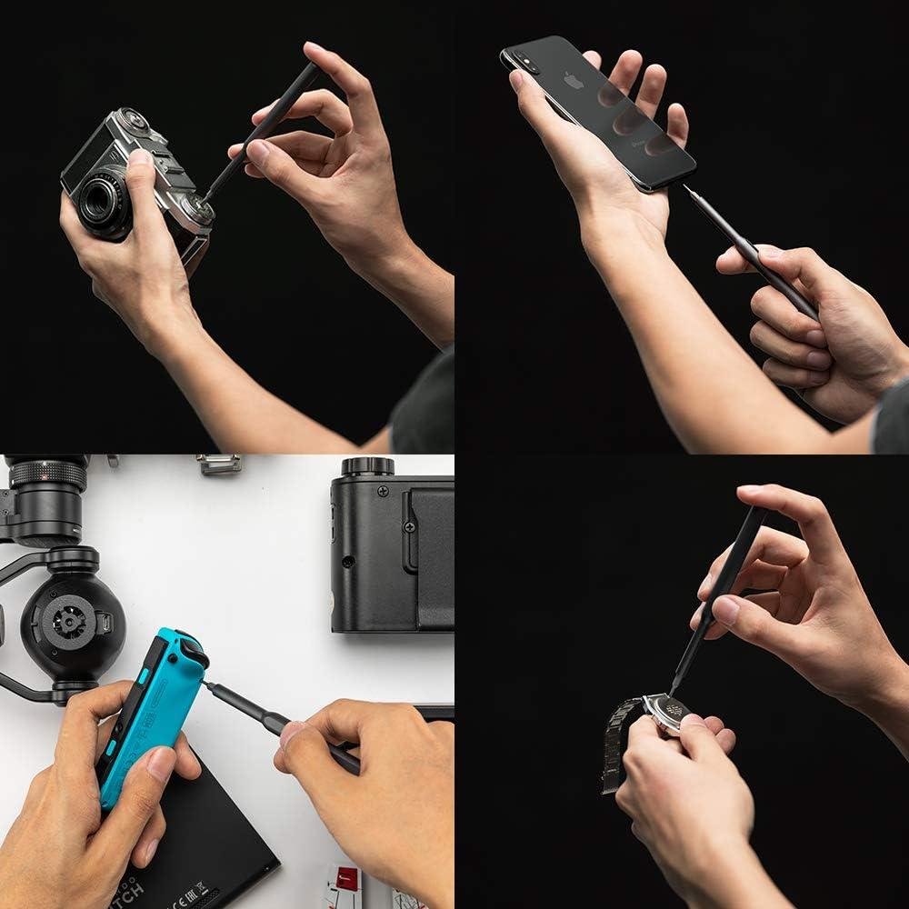 Ruputas Jeu de tournevis de pr/écision imitation m/énager multifonction avec 2 poign/ées en m/étal et 40 embouts magn/étiques Kit doutils de r/éparation pour appareils /électroniques