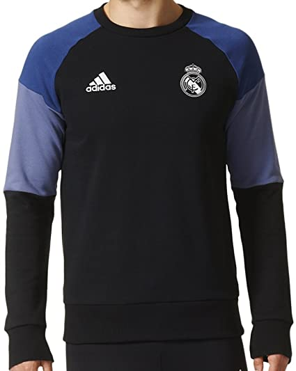 00ba94b07 Amazon.com   adidas Men s Real Madrid Soccer Crewneck Sweatshirt (Black)  (X-Large) Black Purple   Sports   Outdoors