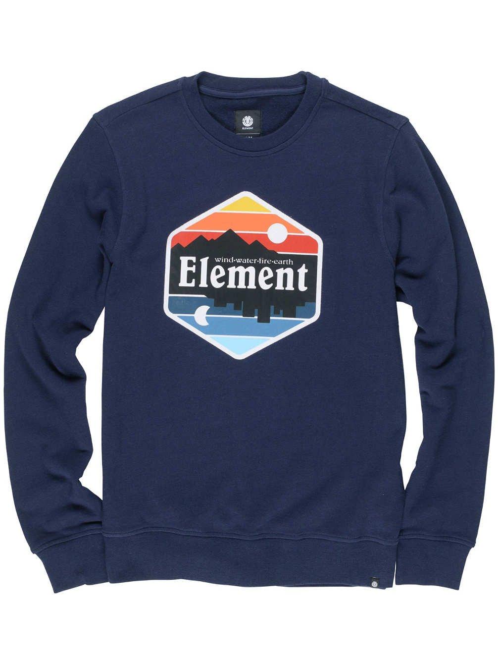 Element Men\'s Dusk Crew Fleece, Mens, DUSK CREW, Flint D1HFG|#Element H1CRA9