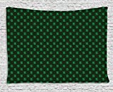asddcdfdd Money Tapestry, Pattern of Dollar Symbols on Dark Green Background Monetary Sign of USA, Wall Hanging for Bedroom Living Room Dorm, 80 W X 60 L Inches, Hunter Green Lime Green