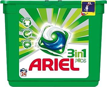 Ariel 3 in1 Pods - Detergente en cápsulas para lavadora - 24 ...