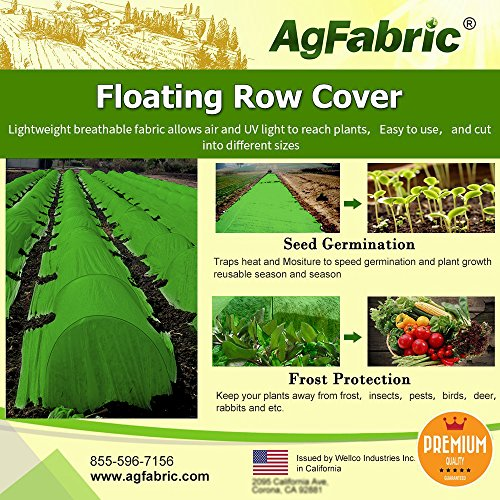 Agfabric Warm Worth Ultra-Heavy Floating Row Cover & Plant Blanket, 2.0oz Fabric of 5x10ft for Frost Protection, Harsh Weather Resistance& Seed Germination, Green by Agfabric