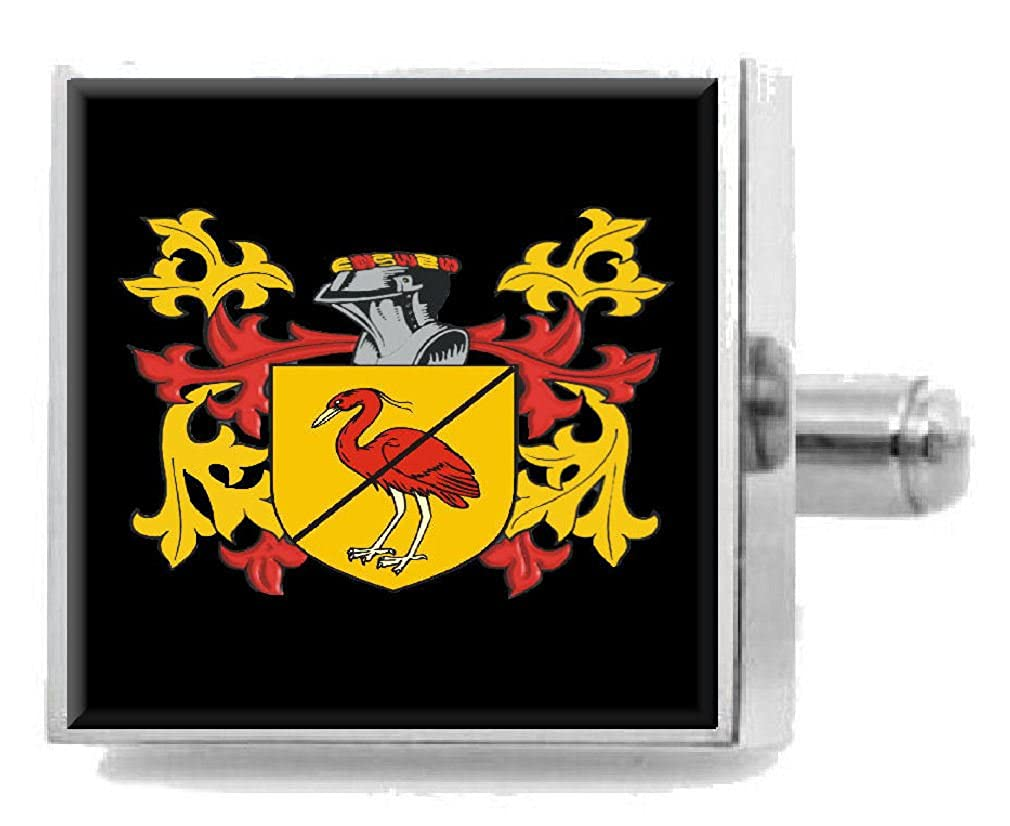 Select Gifts ODriscoll Ireland Heraldry Crest Sterling Silver Cufflinks Engraved Box