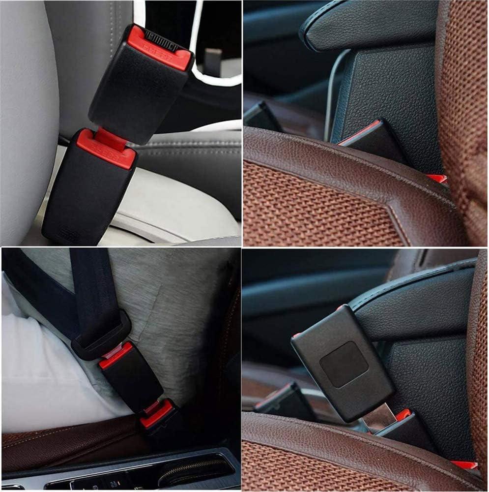 2 PCS Car Buckle Extender Seat Belt Cover Universal Car Extension Socket Buckles Connector Auto Buckle Extender Gray