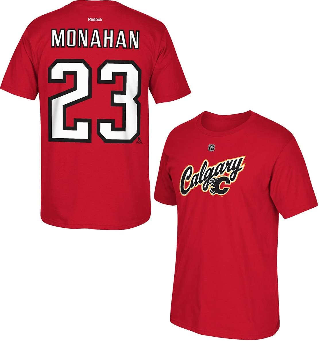 Amazon Com Reebok Sean Monahan Calgary Flames Red Alternate Jersey Name And Number T Shirt Books