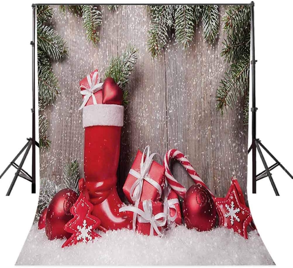 10x15 FT Backdrop Photographers,Xmas Background with Gift Boxes on Wooden Board Countryside Celebration Image Background for Baby Shower Birthday Wedding Bridal Shower Party Decoration Photo Studio