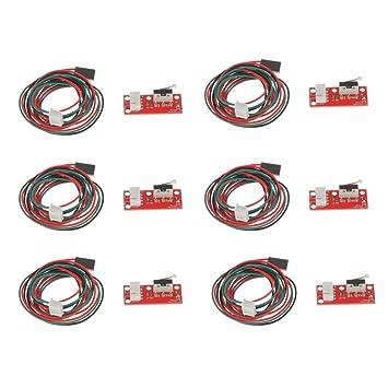 non-brand 6set Nuevo Cable Mecánico del Cable del Interruptor del Límite Mecánico De Endstop para La Impresora 3D RAMPS 1.4