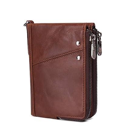 Mens Real Soft Leather Wallet Vintage RFID Blocking Credit ...