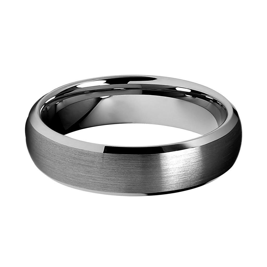 6mm Beveled Edge Mens Tungsten Wedding Band