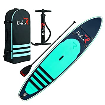 Amazon.com: Rokia R - Tabla de surf de remo hinchable de 11 ...