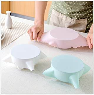 Set Wiederverwendbare Frischhalten Wrap Silikon Extend Saug Lid-Sch/üssel Lids Pan Lebensmittel Abdeckung Cooking Pan Spill NAYUKY 6Pcs