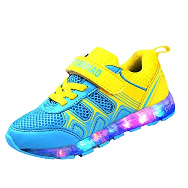 super popular 0ae87 5bfc2 Kidslove [Kinder LED Schuhe LED Schuhe Kinder LED Sportschuhe Kinder USB  Aufladen 7 Lichtfarbe Leuchtend Kinderschuhe PU Sneaker Turnschuhe für  Jungen ...