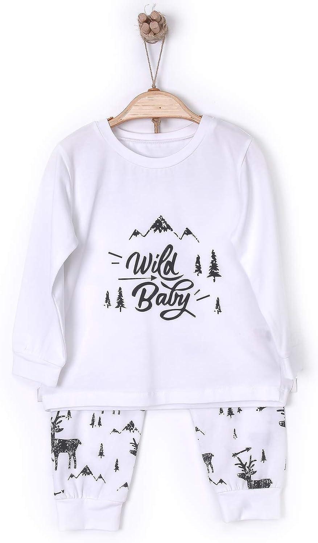 Kitikate Kids Pyjamas Sets Boys Girls Wild Baby Designed Organic Cotton Sleepwear 1-5 Years
