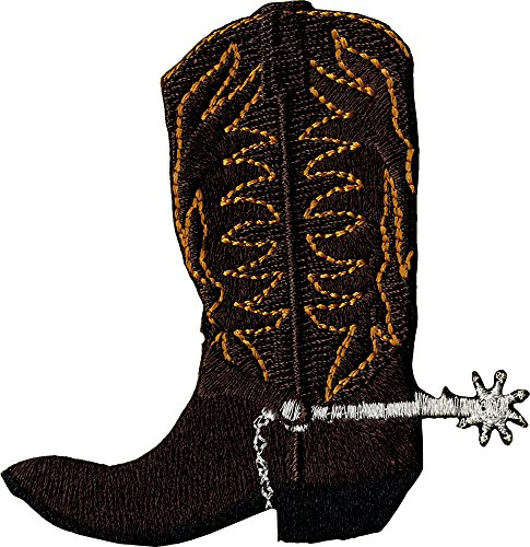 Brown Cowboy Boot with Spur Patch / (Silver Spur Ranch)